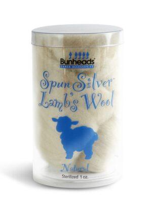 spun silver lambs wool